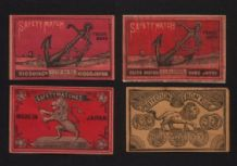 Match box labels VERY OLD  CHINA or JAPAN patriotic #276
